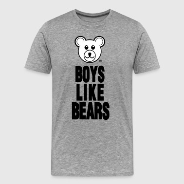 BOYS LIKE BEARS - Men's Premium T-Shirt