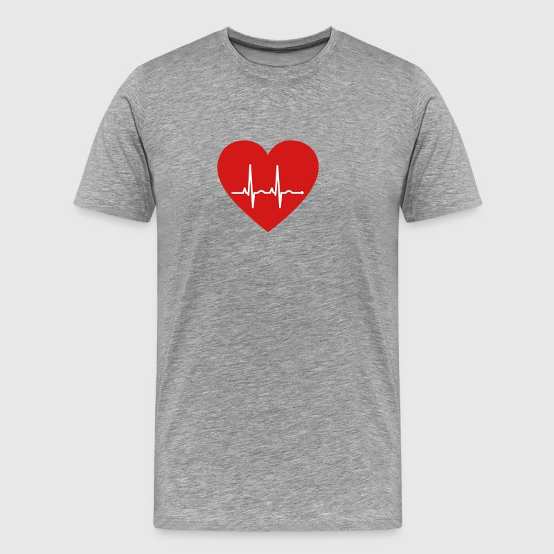 Heart ECG - Men's Premium T-Shirt