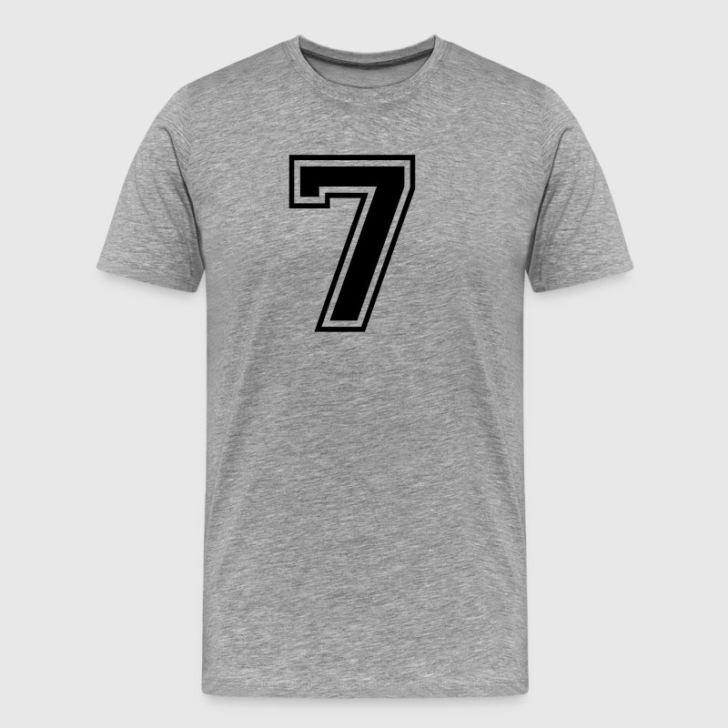 Number 7 college style font - Men's Premium T-Shirt