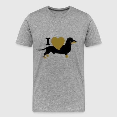 I love dachshund - Men's Premium T-Shirt