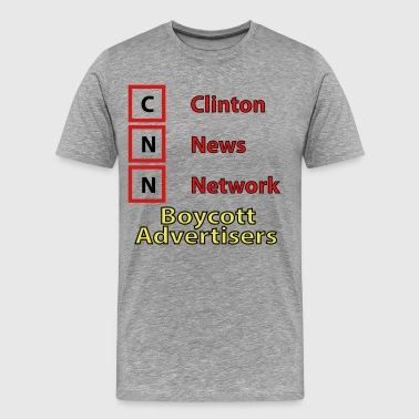 CNN Boycott__orig - Men's Premium T-Shirt