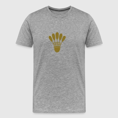 badminton shuttlecock feather 1302_0 - Men's Premium T-Shirt