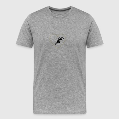 Joggers in the thorns of heart - Men's Premium T-Shirt