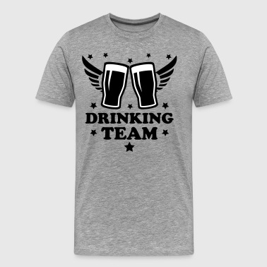 12 Drinking team Alcohol Beer drunk cool 2c - Men's Premium T-Shirt