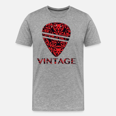Guitar Pick Vintage - Men's Premium T-Shirt
