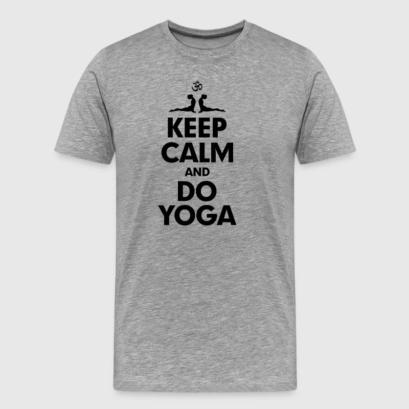 Keep Calm and Do Yoga - Men's Premium T-Shirt