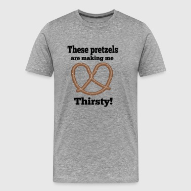 Seinfeld Quote - These Pretzels Are Making Me.... - Men's Premium T-Shirt