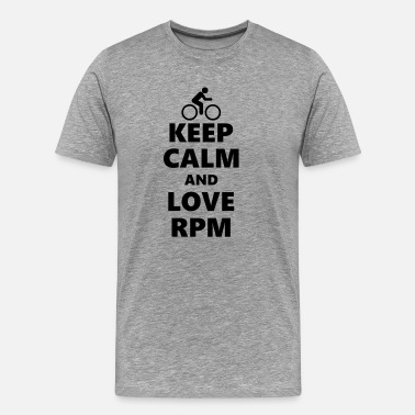 Speedster Keep Calm and Love RPM - Men's Premium T-Shirt