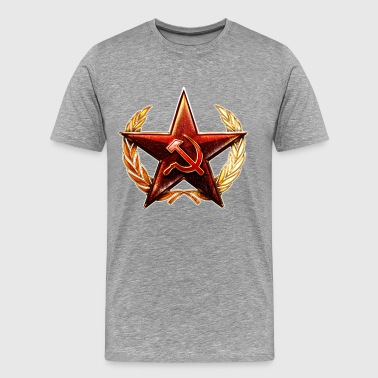 Ussr USSR SOviet Union Star Hammer Sickle - Men's Premium T-Shirt