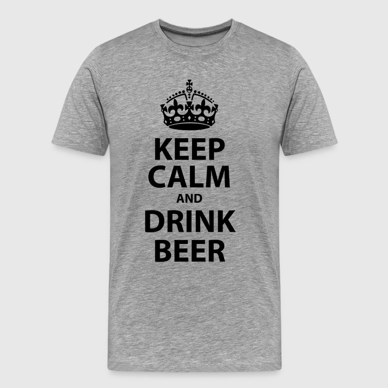 keep calm and drink beer - Men's Premium T-Shirt