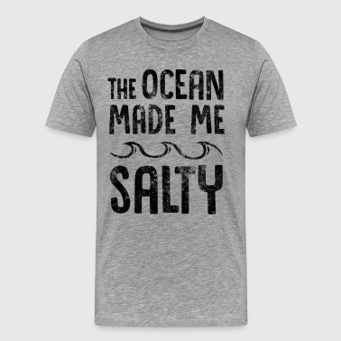 The Ocean Made Me Salty Hipster Surfer  - Men's Premium T-Shirt