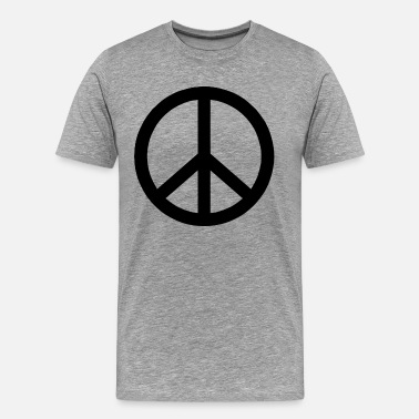 Make Peace Not War PEACE SIGN Make Peace Not War  - Men's Premium T-Shirt
