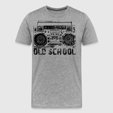 Old School Lasonic Boombox Art - Men's Premium T-Shirt