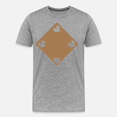 Runner Ducks Ducks on a Pond - Road Grey - Men's Premium T-Shirt