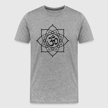 Lotus Yoga Oom Aum Namaste Meditation - Men's Premium T-Shirt