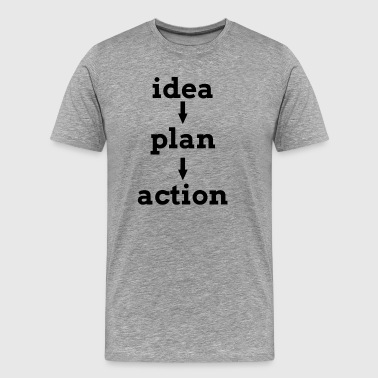 IDEA PLAN ACTION KEY TO SUCCESS - Men's Premium T-Shirt