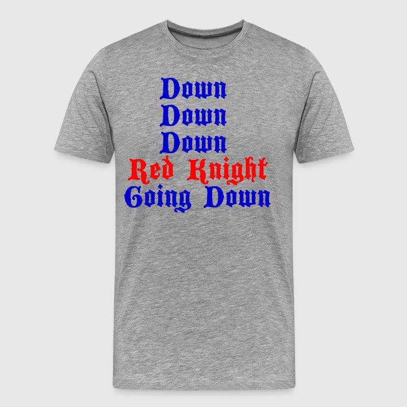 Down Down Down Red Knight Going Down - Cable Guy - Men's Premium T-Shirt