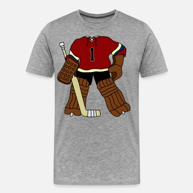 a62ca7bda Vintage Hockey Goalie Men s Organic T-Shirt