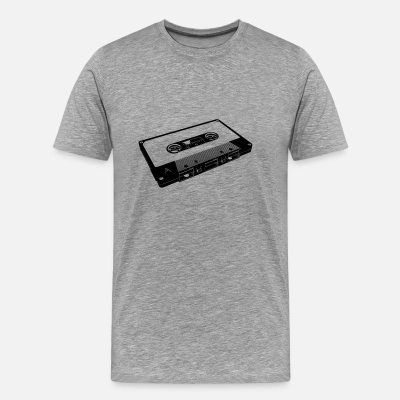 Vintage T-Shirts - tape black - Men's Premium T-Shirt heather gray
