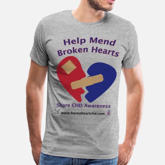 2861a0052 Mend Broken Hearts CHD Awareness Men's Premium T-Shirt   Spreadshirt