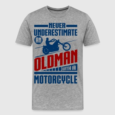Old Man With Motorcycle - Men's Premium T-Shirt