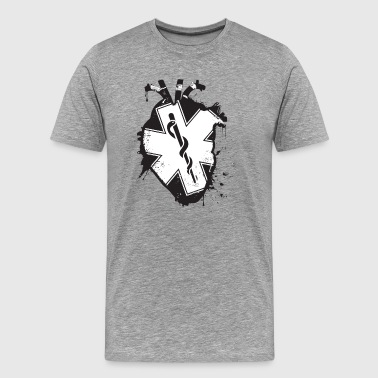 star of life heart - Men's Premium T-Shirt