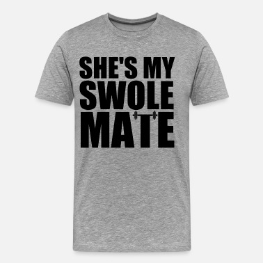 Swolemate SHE'S MY SWOLEMATE - Men's Premium T-Shirt