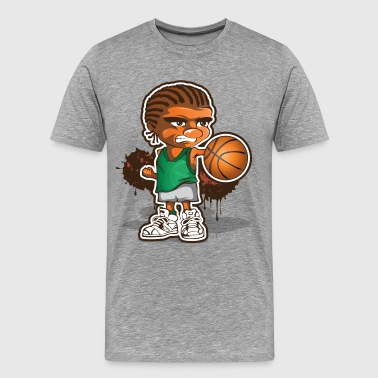Basketball player cartoon art - Men's Premium T-Shirt