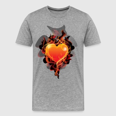 Flame ignition heart - Men's Premium T-Shirt