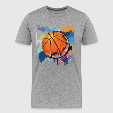 Basketball graffiti art - Men's Premium T-Shirt
