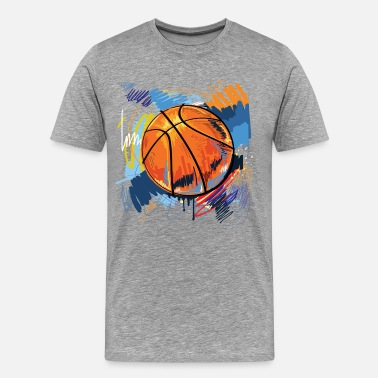 Basketball Graffiti Basketball graffiti art - Men's Premium T-Shirt