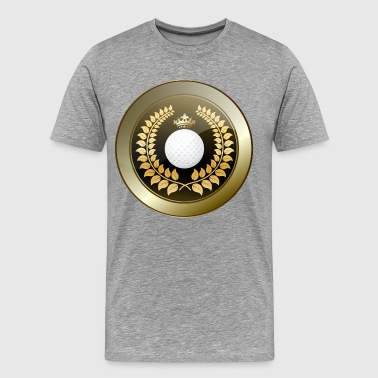 Golden crown golf club shield - Men's Premium T-Shirt