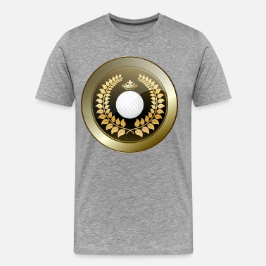 Golden Club Golden crown golf club shield - Men's Premium T-Shirt