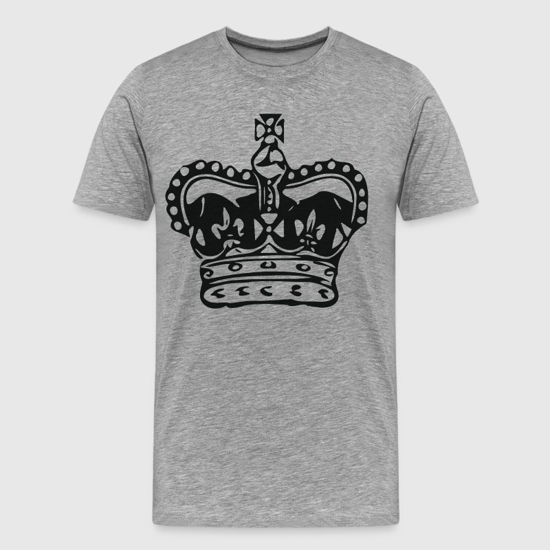 King crown silhouette - Men's Premium T-Shirt