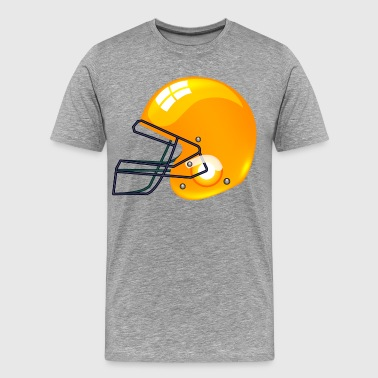 American gold football gridiron helmet - Men's Premium T-Shirt