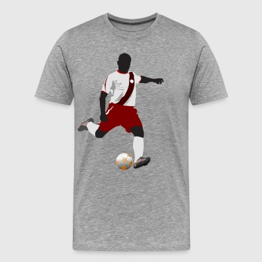 Football player playing soccer in euro cup - Men's Premium T-Shirt