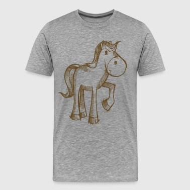 Lift Leg Horse lifted leg line art - Men's Premium T-Shirt