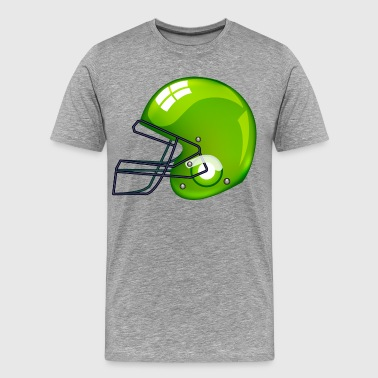 American green football gridiron helmet - Men's Premium T-Shirt