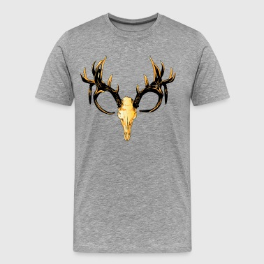 Skull with horns wall art - Men's Premium T-Shirt