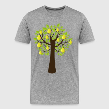 Peach tree with fruits - Men's Premium T-Shirt