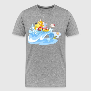 Animal surfing art - Men's Premium T-Shirt