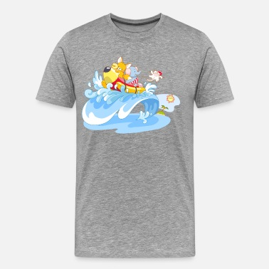 Surfing Art Animal surfing art - Men's Premium T-Shirt