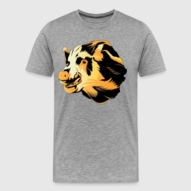 Wild pig head art - Men's Premium T-Shirt