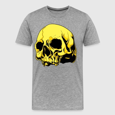 Golden skull design - Men's Premium T-Shirt
