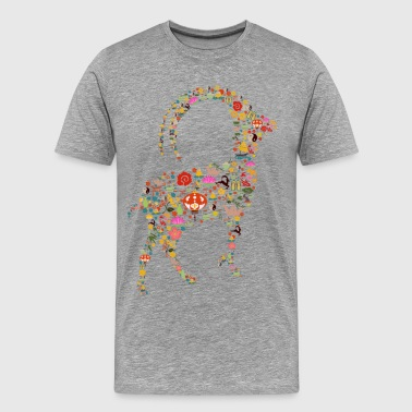Chinese new year of the goat eastern - Men's Premium T-Shirt