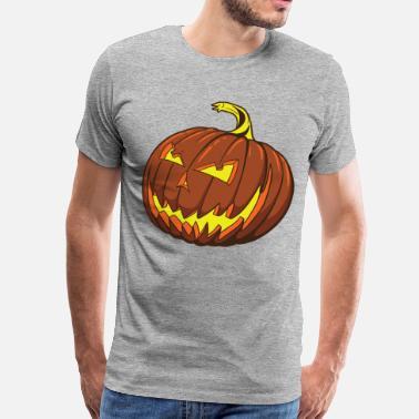 47019a2249ee6 Halloween pumpkin smiley design - Men's Premium T-Shirt