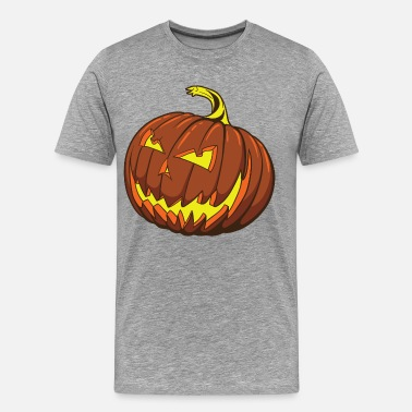 Halloween Smiley Halloween pumpkin smiley design - Men's Premium T-Shirt