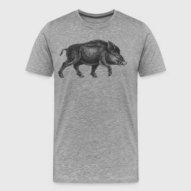 Pig drawing art - Men's Premium T-Shirt