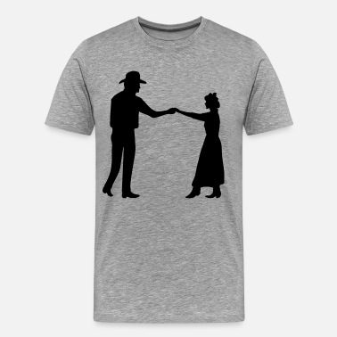 Dance Couple Couple dancing silhouette - Men's Premium T-Shirt
