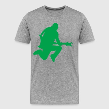 Guitar star silhouette - Men's Premium T-Shirt